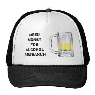 Dinero de la necesidad para la investigación 2 del gorros bordados