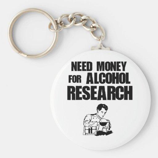 Dinero de la necesidad para la investigación del a llavero