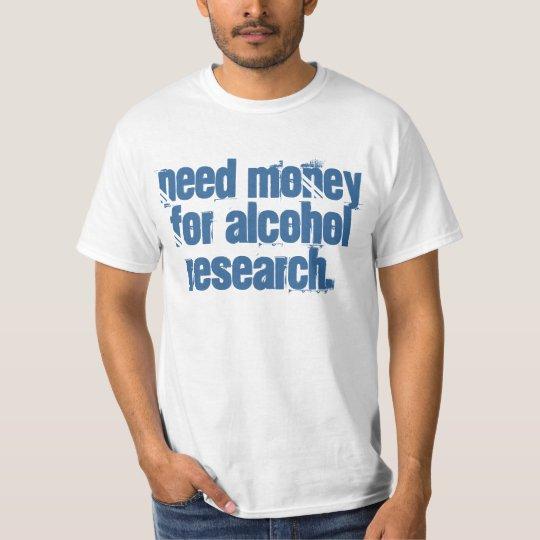 Dinero de la necesidad para la investigación del playera