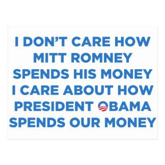 Dinero de Romney Tarjeta Postal