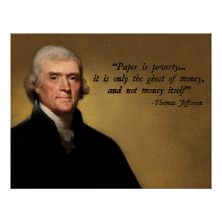 Dinero de Thomas Jefferson Póster