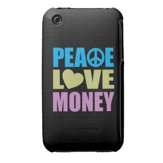Dinero del amor de la paz iPhone 3 funda
