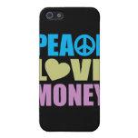 Dinero del amor de la paz iPhone 5 protector