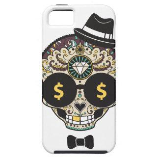 Dinero del cráneo del azúcar iPhone 5 fundas