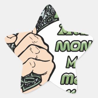 dinero del dinero del dinero calcomania forma de estrella personalizada
