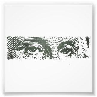 Dinero del efectivo del billete de dólar de George Fotografía