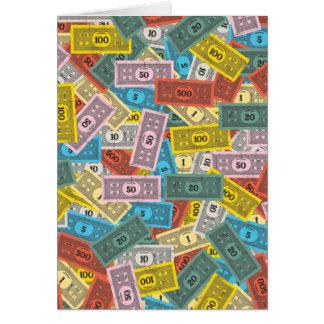 Dinero del monopolio del vintage felicitacion