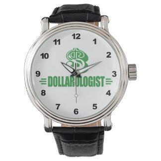 Dinero divertido relojes de pulsera