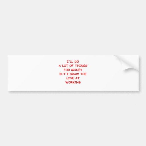 dinero etiqueta de parachoque