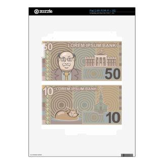 Dinero falso 50 y 10 skin para el iPad 2