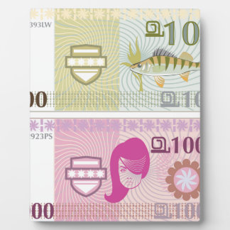 Dinero falso del vector placa
