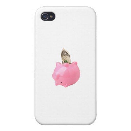 Dinero fuera de una hucha iPhone 4 protector