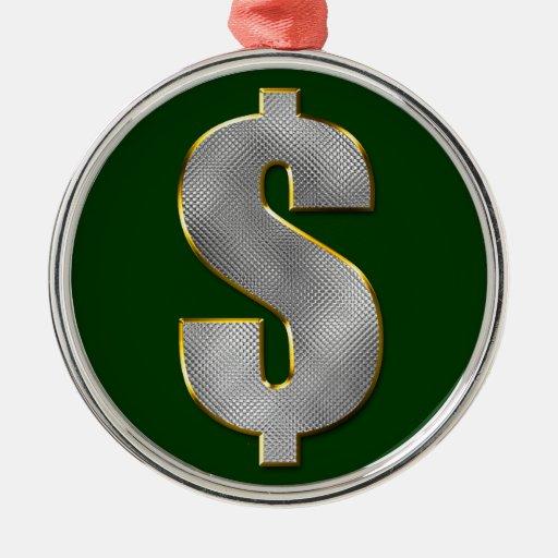 Dinero grande ornamento para arbol de navidad