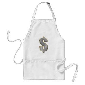 Dinero grande delantal