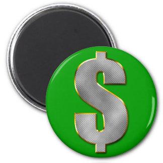 Dinero grande imán redondo 5 cm
