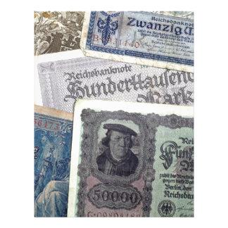 Dinero histórico membrete
