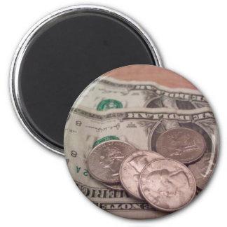 dinero imán redondo 5 cm