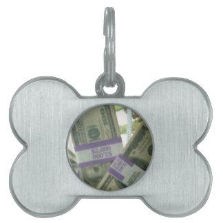 Dinero Placa De Nombre De Mascota