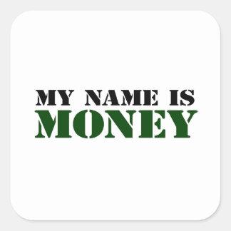 Dinero Pegatina Cuadrada