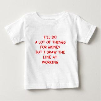 dinero playera de bebé