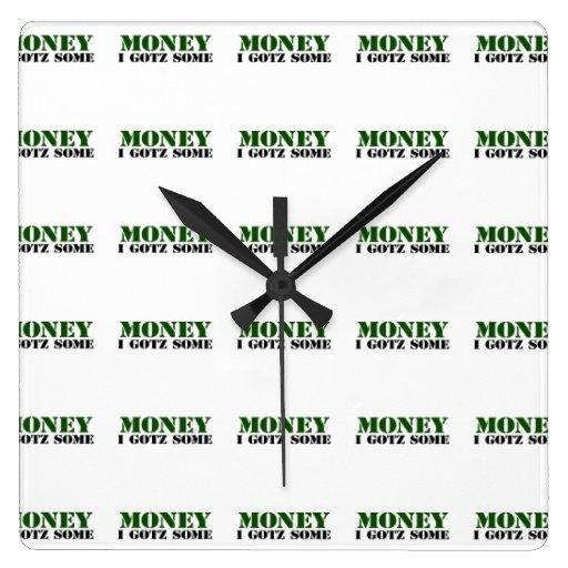 Dinero Reloj Cuadrado