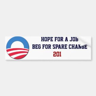 Dinero suelto de Obama Pegatina Para Auto