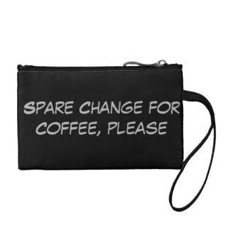 Dinero suelto para el café por favor