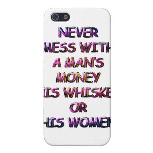 DINERO, WHISKY Y MUJERES iPhone 5 CARCASAS
