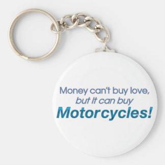 Dinero y motocicletas llavero redondo tipo pin