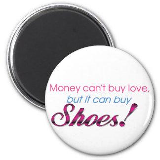 Dinero y zapatos imán redondo 5 cm