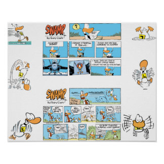 Ding Duck Aviation Comic Poster