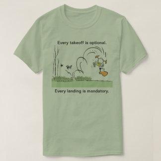 Ding Duck Aviation Humor Mens Shirt