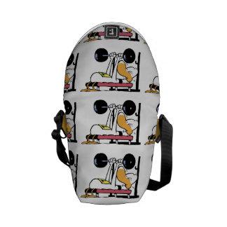 Ding Duck Bench Press Workout Cartoon Commuter Bag