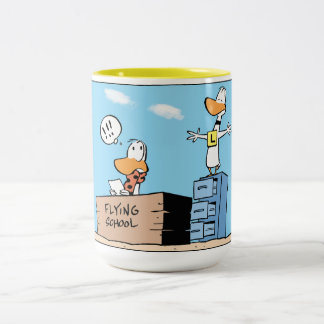 Ding Duck Cartoon Aviation Mug