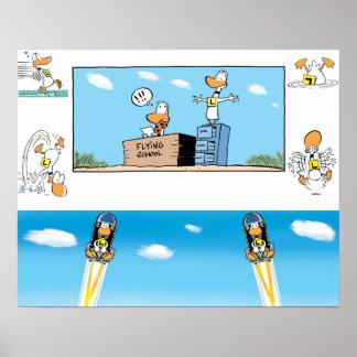 Ding Duck Cartoons Poster