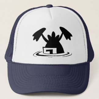 Ding Duck Crashed Again Trucker Hat