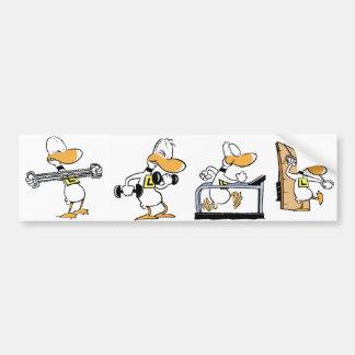 Ding Duck Fitness Workout Bumper Sticker