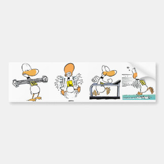 Ding Duck Flying Exercise Bumper Sticker Bumper Stickers