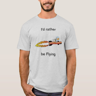 Ding Duck Funny Rocket Shirt