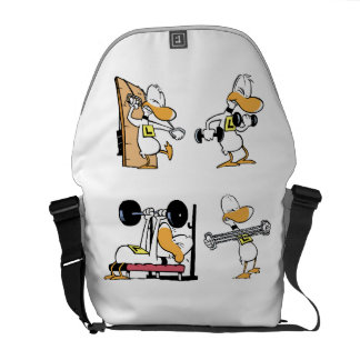 Ding Duck Gym Workout Courier Bag