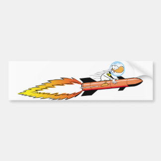 Ding Duck Rocket Bumper Sticker