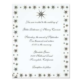 Dingbat Stars Wedding Invitation
