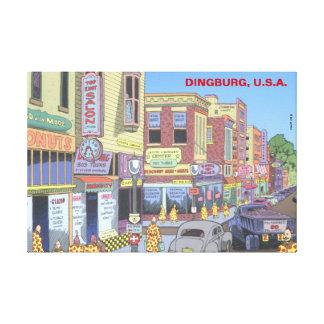 Dingburg, los E.E.U.U. Lona Estirada Galerías