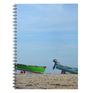 Dinghies On A Beach Notebook