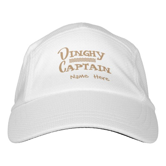 Dinghy Captain Personalized Hat