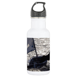 Dinghy Sailing Into The Sun 18oz Water Bottle
