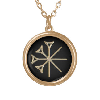 Dingir Round Pendant Necklace