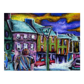 Dingle town at dusk post cards