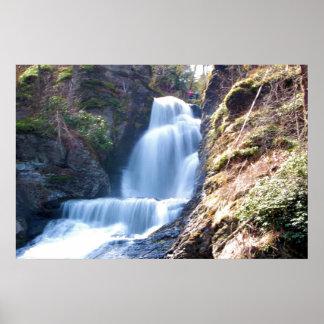 Dingman Falls @ Delaware Water Gap Poster