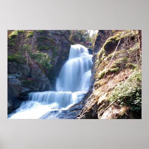 Dingman Falls @ Delaware Water Gap Posters